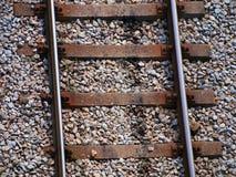 Piste del treno - vista superiore Immagine Stock