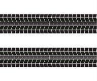 Piste della gomma Illustrazione di vettore su priorità bassa bianca royalty illustrazione gratis