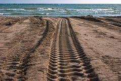 Piste della spiaggia Fotografia Stock