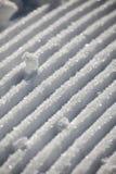 Piste di gatto delle nevi Fotografia Stock