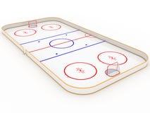 Piste di pattinaggio sul ghiaccio. hockey Fotografia Stock