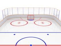Piste di pattinaggio sul ghiaccio su una superficie bianca. #8 Immagine Stock Libera da Diritti