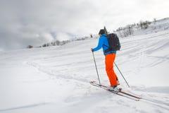 Piste di sci di Randonnee Immagini Stock