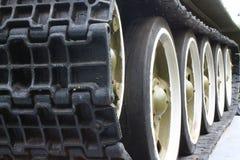 Piste di trattore a cingoli del serbatoio Immagine Stock Libera da Diritti