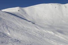 Piste do esqui da neve foto de stock royalty free