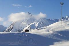 Piste do esqui da neve imagens de stock royalty free