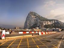 Piste du Gibraltar, de roche et d'aéroport Image stock