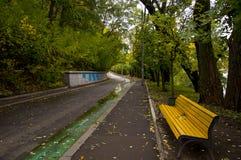 Piste en stationnement d'automne Images libres de droits