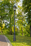 Piste en stationnement d'automne Image stock