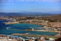 Piste et l'Espagne du Gibraltar Photos libres de droits