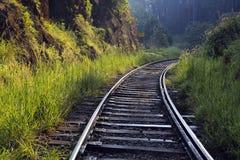 Piste ferroviarie del treno Fotografie Stock Libere da Diritti