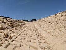 Piste fuori strada di Tiro nella sabbia immagini stock libere da diritti