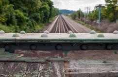 Piste lunghe del treno Immagine Stock