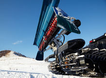 Piste machine (snow cat) Royalty Free Stock Photo