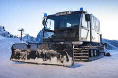 Piste Machine Snowcat Winter Snow Stock Images