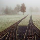 Piste nella nebbia Fotografie Stock Libere da Diritti