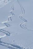 Piste nella neve fotografia stock libera da diritti