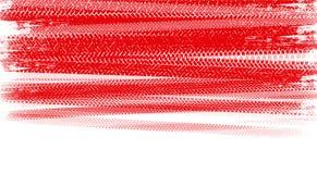 Piste rosse della gomma Fotografie Stock