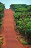 Piste rougeâtre en île de kangourou Photographie stock libre de droits