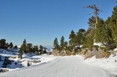 Piste in the ski resort Pierre Saint Martin Royalty Free Stock Images
