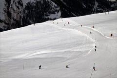 Piste, Snow, Mountain Range, Winter Royalty Free Stock Photo
