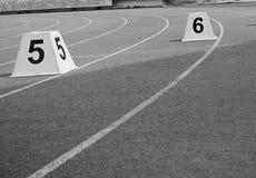 Piste sportive Photo stock