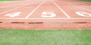 Piste sportive Photographie stock