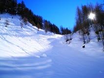 Piste sulla neve Immagine Stock Libera da Diritti