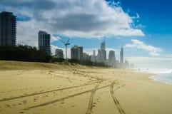 Piste sulla sabbia Fotografia Stock Libera da Diritti