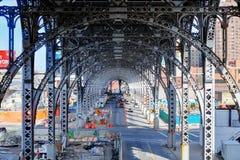 Piste superiori del treno della costa Ovest - NYC Fotografie Stock Libere da Diritti