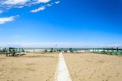 Piste sur la plage Photo libre de droits
