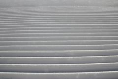 Piste toilettée de ski Photographie stock