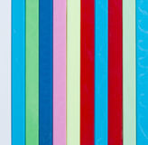 Piste traditionnelle de Noël Bâtons de Plastique de couleur différente Images stock