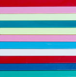 Piste traditionnelle de Noël Bâtons de Plastique de couleur différente Images libres de droits