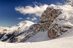 On the piste. A view from the Olympic piste in Axamer Lizum Stock Photos