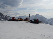 Pistebashers in Zugspitze Royalty-vrije Stock Afbeeldingen