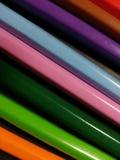 Pistes colorées de crayon photos stock