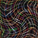 Pistes colorées fraîches de pirouette sur le fond noir Illustration Stock
