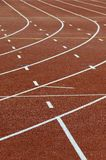 Pistes courantes d'athlétisme Photo libre de droits