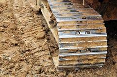 Pistes d'excavatrice. photos libres de droits