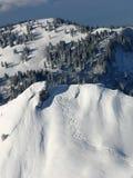 Pistes dans la neige Images libres de droits