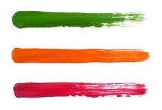 Pistes de couleur Photos stock