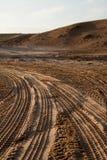 Pistes de désert photo libre de droits