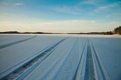 pistes de neige Images stock