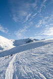 pistes de neige image stock
