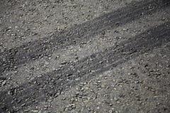 Pistes de pneu Images libres de droits
