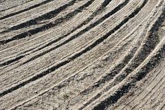 Pistes de pneu en sable images libres de droits