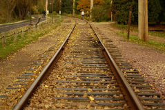 Pistes de train Image libre de droits