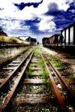 Pistes de train Photos libres de droits