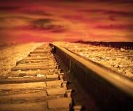 Pistes de train Photo libre de droits